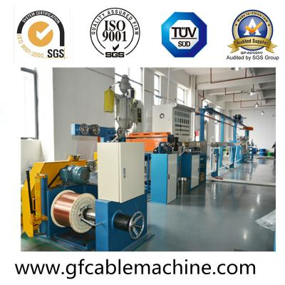 High speed insulated cable extrusion machine